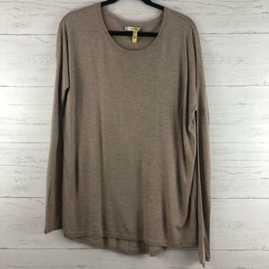 Vince Cashmere Blend Taupe Crew Neck Sweater